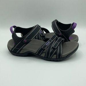 Teva Tirra Black & Purple Hiking Sandals